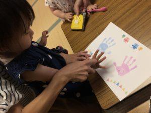 双子会の手形アート