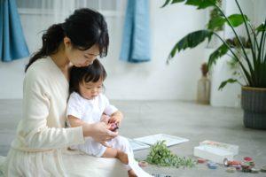 ママと赤ちゃん手形