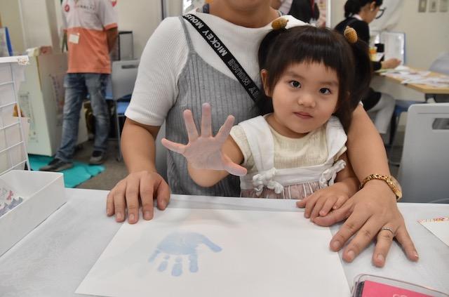 手形アート 手形スタンプ 女の子